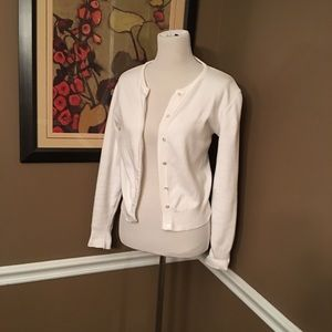 Vintage white cotton cardigan. Great for fall!